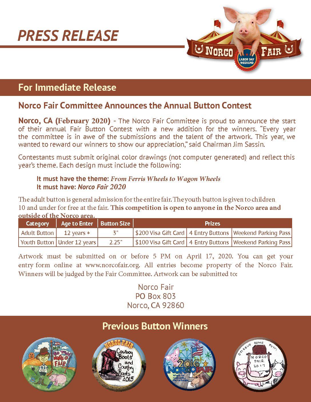 Fair Button Contest Press Release 2020